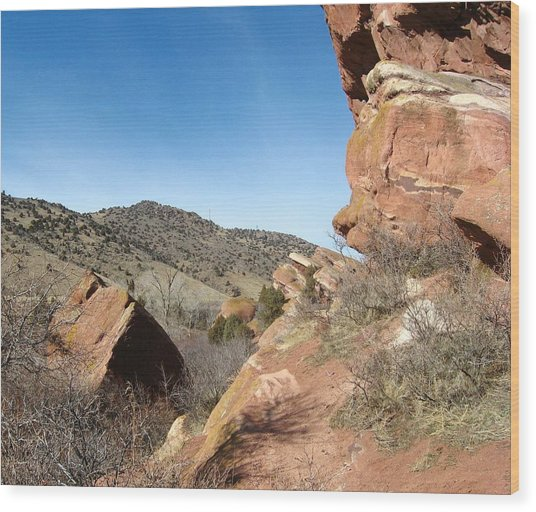 Red Rocks Park Colorado Wood Print by Gretchen Wrede