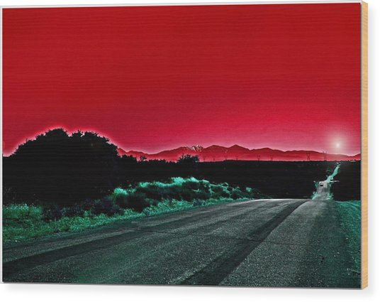 Red Sky At Night Wood Print by Chet King