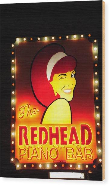 Redhead Wood Print by Zannie B