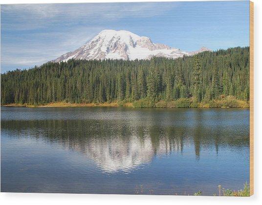 Reflection Lake - Mt. Rainier Wood Print