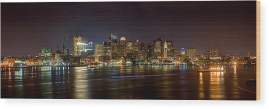 Reflections Of Boston Wood Print