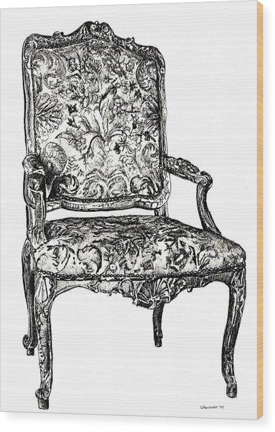 Regency Chair Wood Print by Adendorff Design