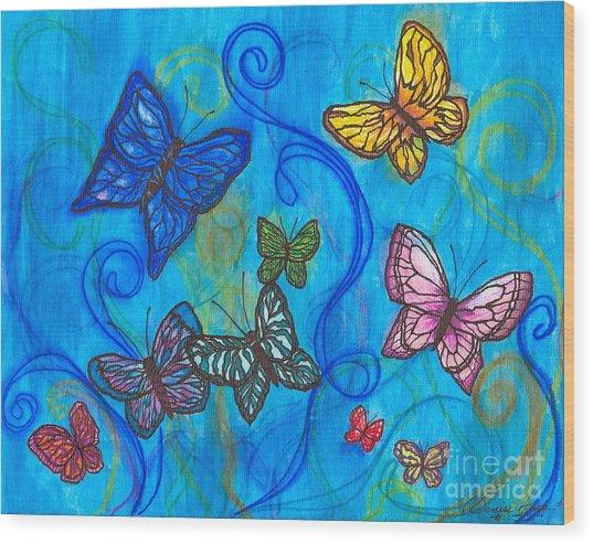 Releasing Butterflies II Wood Print