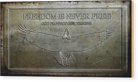 Remember Our Heros Wood Print by Carrie OBrien Sibley