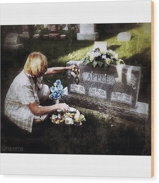Remembering Her Little Brother Wood Print by Natasha Marco