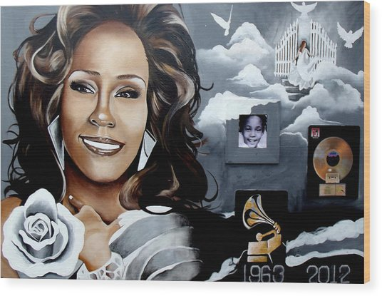 Remembering Whitney Wood Print by Alonzo Butler
