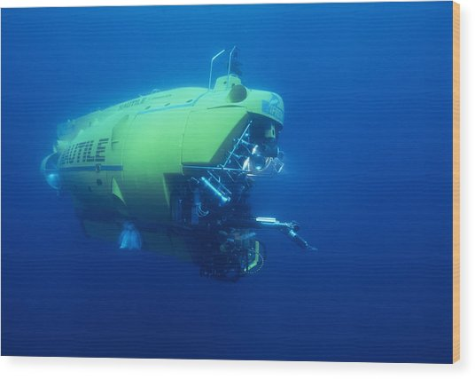 Research Submersible Wood Print by Alexis Rosenfeld
