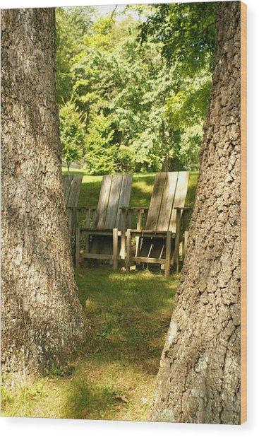 Restful Wood Print by Margaret Steinmeyer