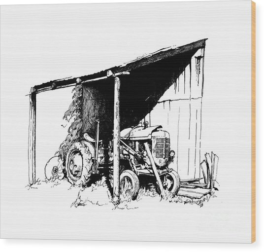 Replacement Pen And Ink Wood Print by Steve Orin