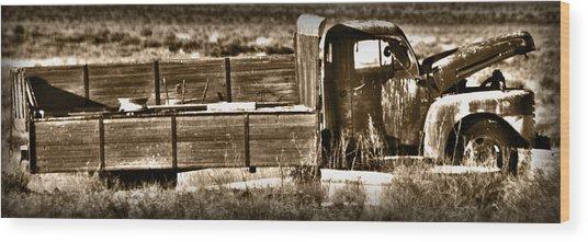 Retired Truck Wood Print