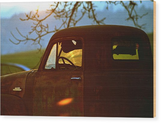 Retirement For An Old Truck Wood Print