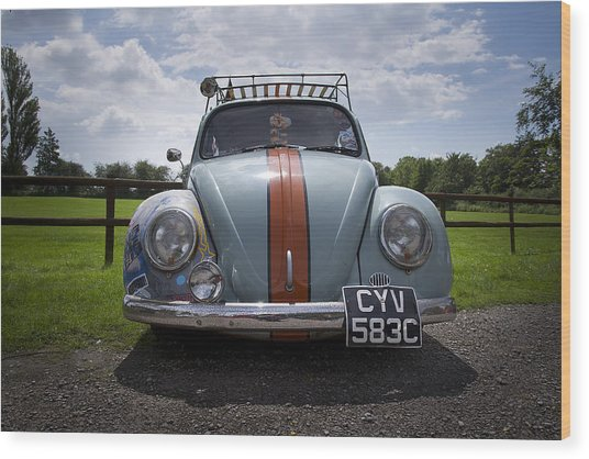 Retro Beetle 2 Wood Print by Dan Livingstone
