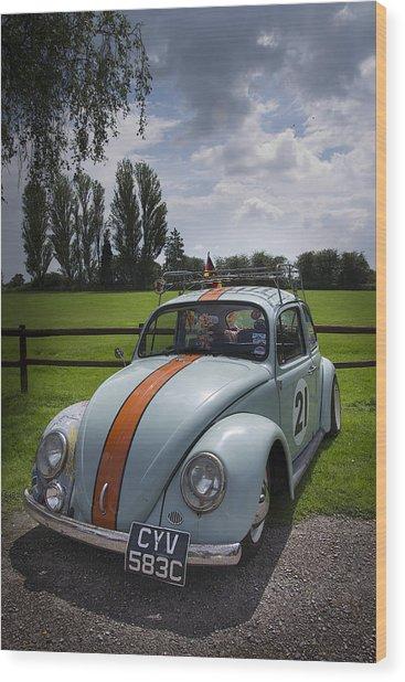 Retro Beetle 4 Wood Print by Dan Livingstone