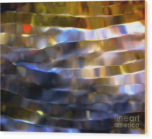 Ribbons Of Light Wood Print