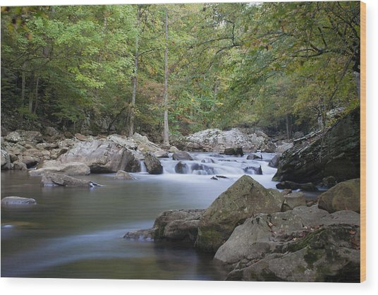 Richland Creek Wood Print