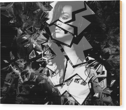 Rihanna Shattered Wood Print