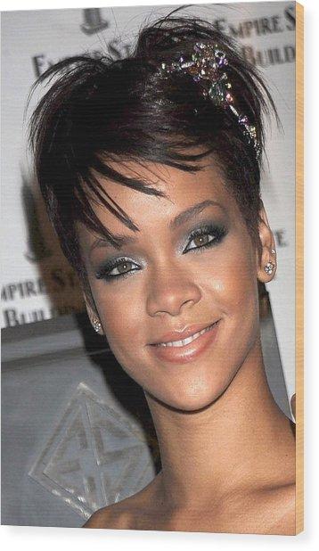 Rihanna Wearing A Cartier Tiara Wood Print