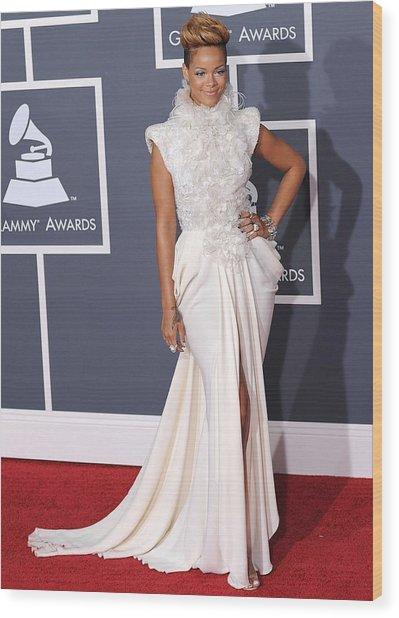 Rihanna Wearing An Elie Saab Haute Wood Print
