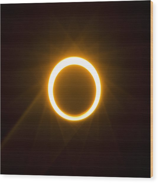 Ring Of Fire Wood Print