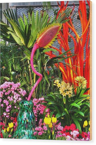 Riotous Color Wood Print by Chris Anderson