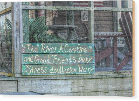 River Mantra Wood Print