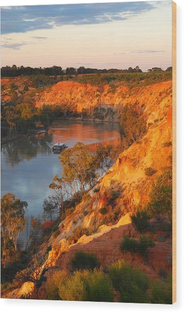River Murray At Sunset Wood Print by Patricia Tapping