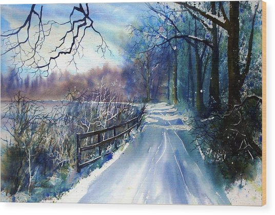 River Ouse In Winter Wood Print