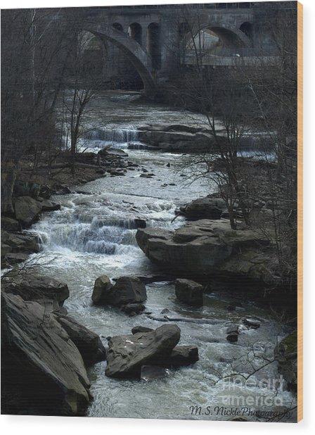 River Rapids Wood Print by Melissa Nickle