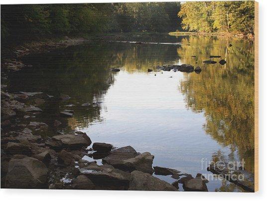 River Run Wood Print