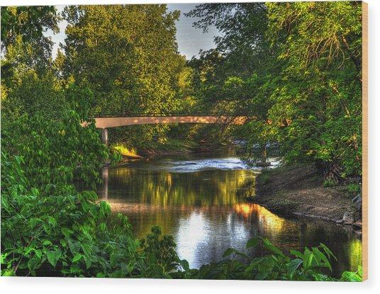 River Walk Bridge Wood Print