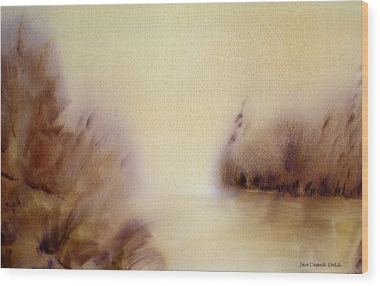 Riverbend Wood Print by Jan Deswik
