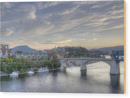 Riverfront View Wood Print