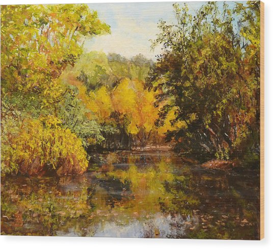 River's Bend Wood Print