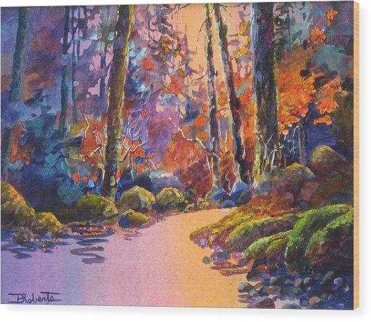 River's Palette Wood Print