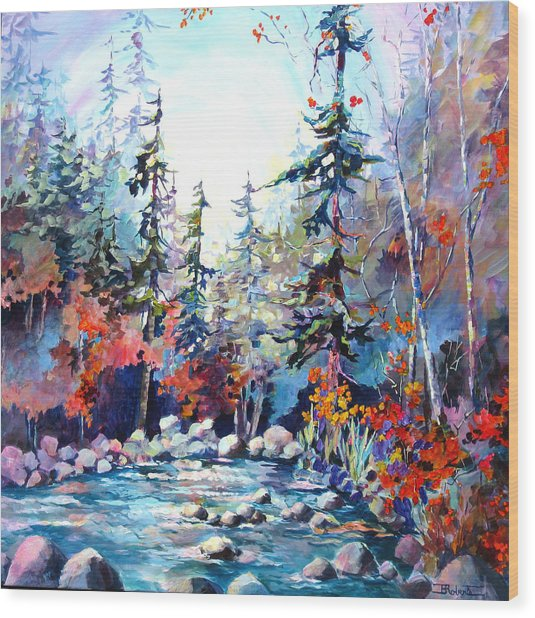 River's Rainbow Wood Print