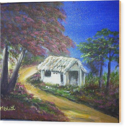 Road House Wood Print by M bhatt