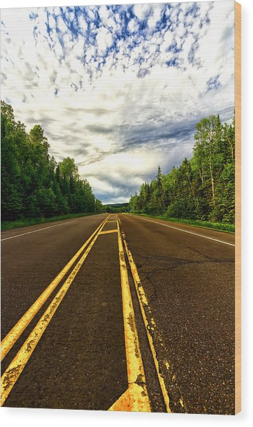 Road To Canada Wood Print