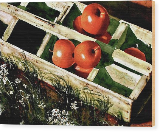 Roadside Farm Stand  Wood Print