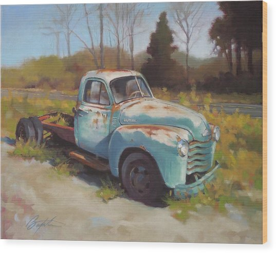 Roadside Relic Wood Print by Todd Baxter