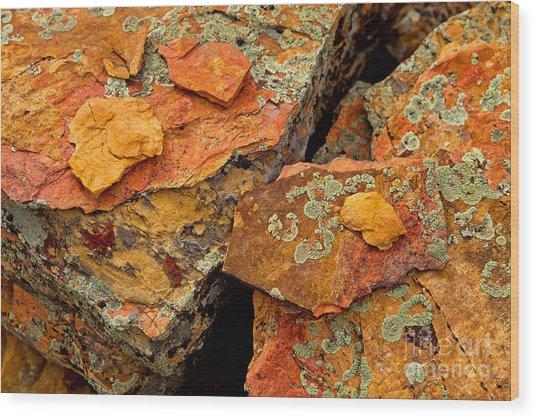 Rock Abstract I Wood Print