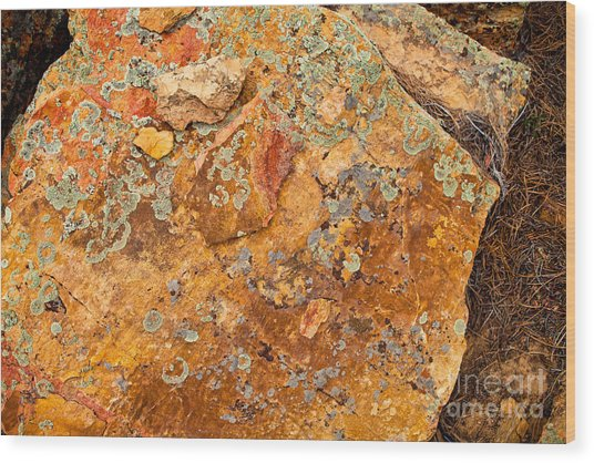 Rock Abstract II Wood Print