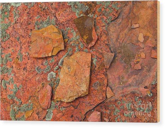 Rock Abstract Iv Wood Print