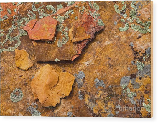 Rock Abstract V Wood Print
