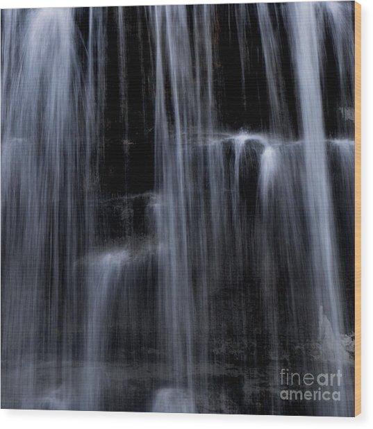 Rock Glen Water Falls Wood Print
