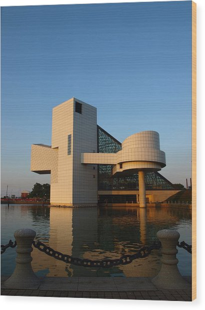 Rock Hall In The Evening Wood Print by Allan Wrona