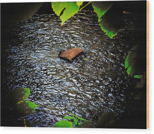 Rock River Wood Print by Michael L Kimble