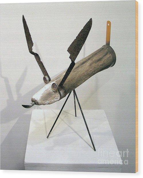 Rocket Dog Wood Print