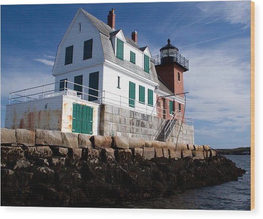 Rockland Breakwater Lighthouse Wood Print