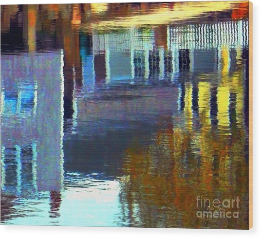 Rockport Reflections Wood Print