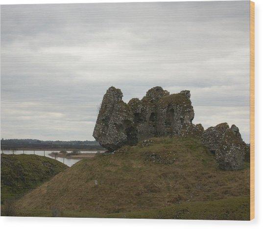 Rocks And Ruins Wood Print by Darcey James
